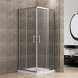 SALLY B0002F4 Square Corner Entry Shape 2 Sided Sliding Shower Door