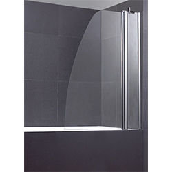 SALLY A055 6mm Swing Bath Screen with Sail Safety Glass & Fix Panel