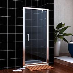 SALLY A0706P1+F08115 Square Swing Aluminum Framed Pivot Hinge Shower Doors