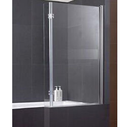 SALLY A047 6mm Swing Bath Screen with L Shape Safety Glass & Hinge Panel