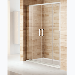 SALLY BP12P4 Classical Safety Tempered Glass Sliding Shower Two doors