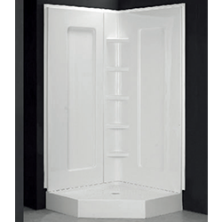 SALLY Acrylic Shower wall CUPC approved