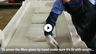 Want to know how we put the fibre glass by hand on the acrylic wall ?Just click here