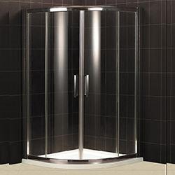 SALLY B009 Two Sliding Doors Polished Aluminum Frame Bathroom Shower Enclosure