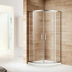 SALLY BP12S4 Corner Sector Double Sliding Doors Bathroom Shower Enclousre