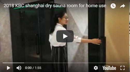 2018 KBC shanghai dry sauna room for home use