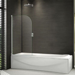 SALLY A056 5mm Swing Bath Screen with Round Safety Glass