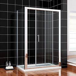 SALLY B00021116+F08116 Sliding Shower Enclosure Door with Side Panel