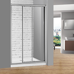 SALLY BL07P3 3-Fold Sliding Bathroom Shower Door Enclosure with Full Length Magnetic Water Seals